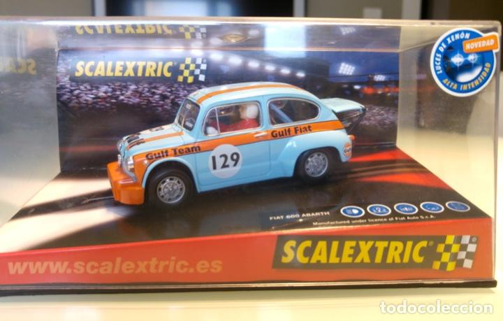 FIAT 600 ABARTH SCALEXTRIC GULF (Juguetes - Slot Cars - Scalextric Tecnitoys)