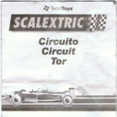 Scalextric: MANUAL SCALEXTRIC CIRCUITO. TECNITOYS. Lote 142238182