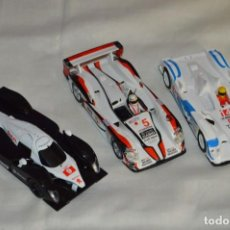 Scalextric: LOTE 3 COCHES SCALEXTRIC - TECNITOYS - PEUGEOT 908 / AUDI R8 / AUDI R10 - HAZ OFERTA - ENVÍO 24H. Lote 142241750