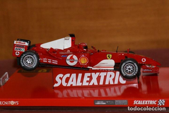 Scalextric: FERRARI F1 2004 F2004 MICHAEL SCHUMACHER SLOT CAR ESCALA 1:32 DE SCALEXTRIC EN CAJA - Foto 5 - 142346566