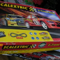 Scalextric: GRAN CIRCUITO SCALEXTRIC X-EXTREME RALLY CON VEHICULOS MITSUBISHI LANCER Y SEAT CORDOBA. Lote 145363950
