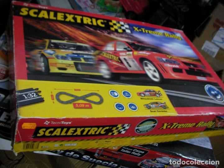 Scalextric: GRAN CIRCUITO SCALEXTRIC X-EXTREME RALLY CON VEHICULOS MITSUBISHI LANCER Y SEAT CORDOBA - Foto 2 - 145363950