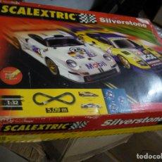 Scalextric: GRAN CIRCUITO SCALEXTRIC SILVERSTONE VEHICULOS FERRARI F-40 Y PORSCHE 911 GT. Lote 145365618