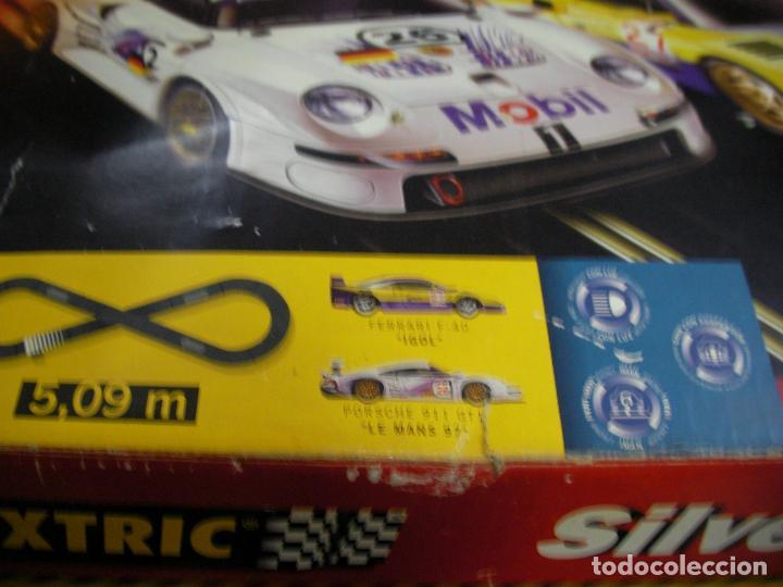 Scalextric: GRAN CIRCUITO SCALEXTRIC SILVERSTONE VEHICULOS FERRARI F-40 Y PORSCHE 911 GT - Foto 2 - 145365618