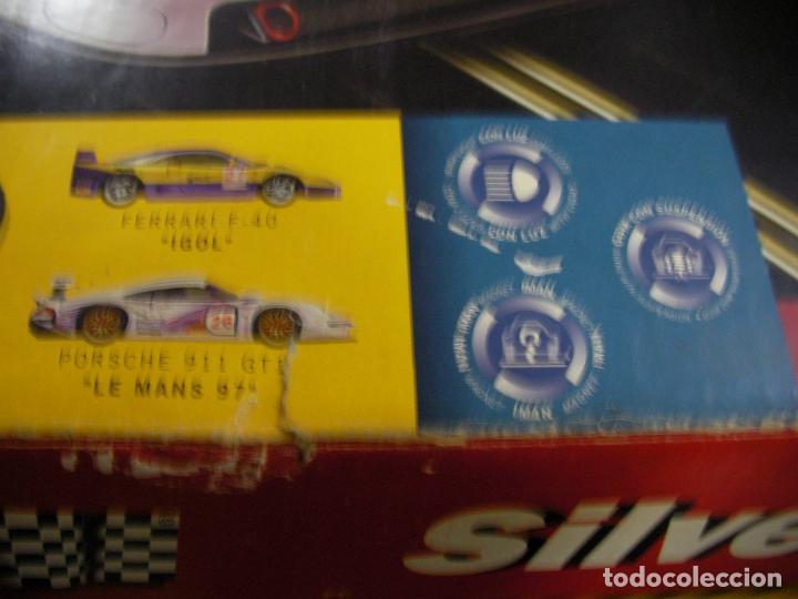 Scalextric: GRAN CIRCUITO SCALEXTRIC SILVERSTONE VEHICULOS FERRARI F-40 Y PORSCHE 911 GT - Foto 3 - 145365618