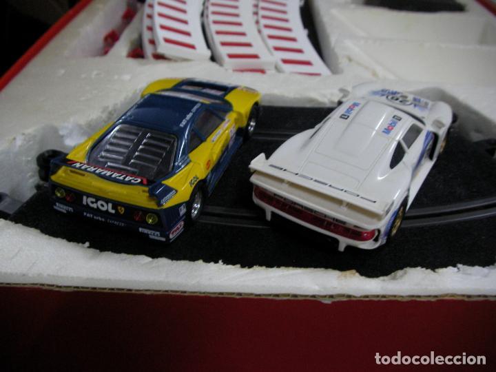 Scalextric: GRAN CIRCUITO SCALEXTRIC SILVERSTONE VEHICULOS FERRARI F-40 Y PORSCHE 911 GT - Foto 9 - 145365618