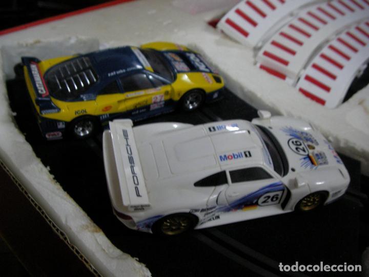 Scalextric: GRAN CIRCUITO SCALEXTRIC SILVERSTONE VEHICULOS FERRARI F-40 Y PORSCHE 911 GT - Foto 10 - 145365618