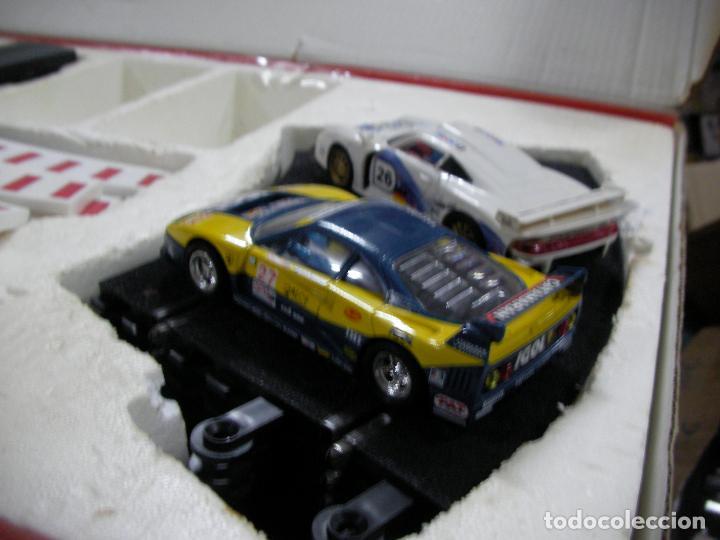 Scalextric: GRAN CIRCUITO SCALEXTRIC SILVERSTONE VEHICULOS FERRARI F-40 Y PORSCHE 911 GT - Foto 11 - 145365618