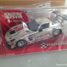 Scalextric: SLOT, SCALEXTRIC A10065S300, MERCEDES SLS-AMG, PLATA,SCX, CLUB SCALEXTRIC 2012. Lote 145999722