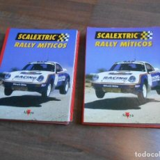 Scalextric: DOS TOMOS SCALEXTRIC RALLY MITICOS ALTAYA TECNITOYS SLOT BOOKS TOYOTA BMW PORSCHE CERTIFICADOS. Lote 146977010