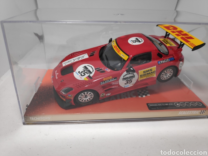 SCALEXTRIC MERCEDES SLS GT3 DHL REF. A10105S300 (Juguetes - Slot Cars - Scalextric Tecnitoys)