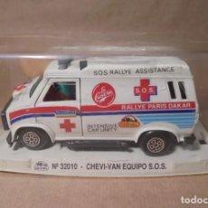 Scalextric: CHEVY VAN EQUIPO S.O.S. - GUISVAL - EDICION LA CASERA CON CAJA. Lote 151901838