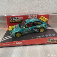 Scalextric: SEAT CORDOBA WRC 2001 - CLUB SCALEXTRIC TECNITOYS - EDICION LIMITADA . Lote 152536838