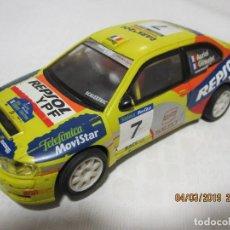 Scalextric: SLOT CAR SCALEXTRIC SEAT CORDOBA WRC AURIOL Y GIRAUDET FUNCIONA . Lote 154769342