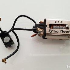 Scalextric: MOTOR RX4 RX-4 DE TECNITOYS CON CABLES Y ADAPTADORES SCALEXTIC. Lote 236708680