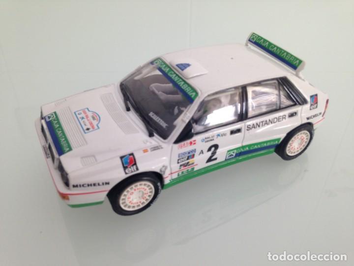 SLOT,SCALEXTRIC,LANCIA DELTA HF INTEGRALE Nº 2, CHUS PURAS, 1º RALLY OSONA 1992 (Juguetes - Slot Cars - Scalextric Tecnitoys)