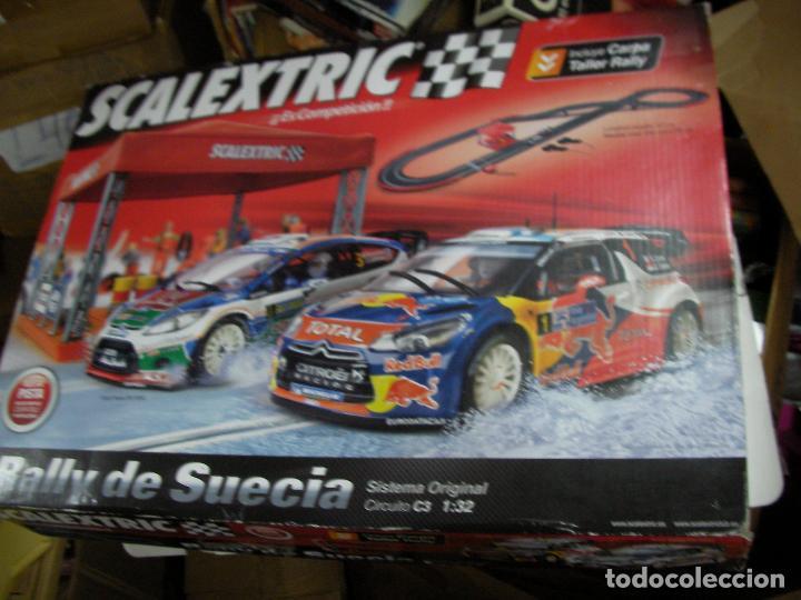 GRAN SCALEXTRIC RALLY DE SUECIA CON SUS COCHES EN BUEN ESTADO (Juguetes - Slot Cars - Scalextric Tecnitoys)