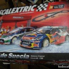 Scalextric: GRAN SCALEXTRIC RALLY DE SUECIA CON SUS COCHES EN BUEN ESTADO. Lote 156639302