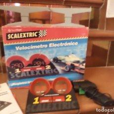 Scalextric: LOTE SCALEXTRIC.VELOCÍMETRO ELECTRÓNICO + 2 PILARES + 1 MANDO SCX.. Lote 159330930