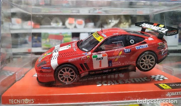 Ferrari 550 GTs Maranello slot car released by Scalextric Spain (SCX)  (reference 6180) in 2005,NUEVO
