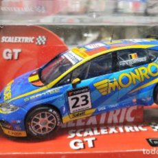 Scalextric: SEAT LEÓN WTCC 'CORTHALS' SLOT CAR RELEASED BY SCALEXTRIC SPAIN (SCX) (REFERENCE 6310) IN 2008,NUEVO. Lote 160586286