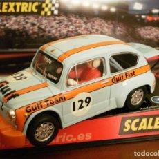 Scalextric: FIAT 600 ABARTH GULF DE SCALEXTRIC REF. 6119 CON LUCES Y CAJA. A ESTRENAR. Lote 162005886