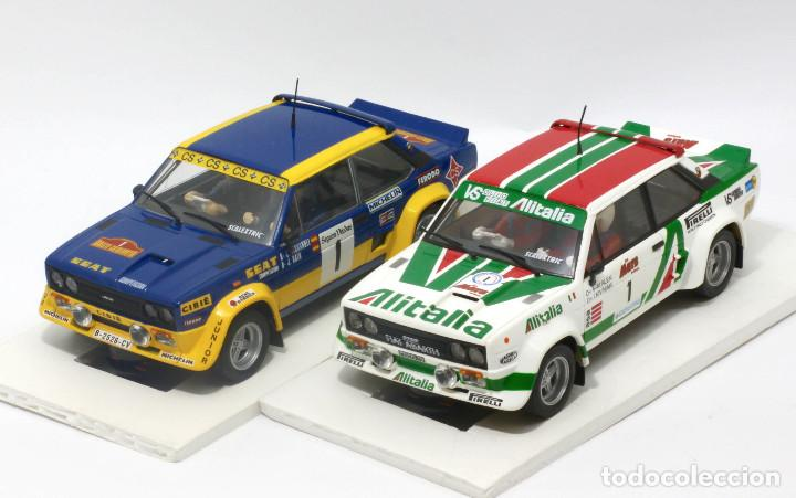 LOTE 2 FIAT 131 ABARTH EQUIPOS OFICIALES ALITALIA Y SEAT (SCALEXTRIC) (Juguetes - Slot Cars - Scalextric Tecnitoys)