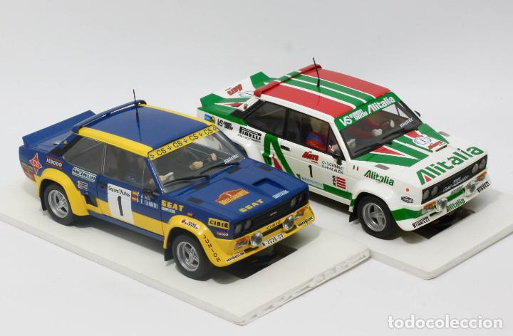 Scalextric: Lote 2 Fiat 131 Abarth equipos oficiales Alitalia y Seat (Scalextric) - Foto 2 - 164605906