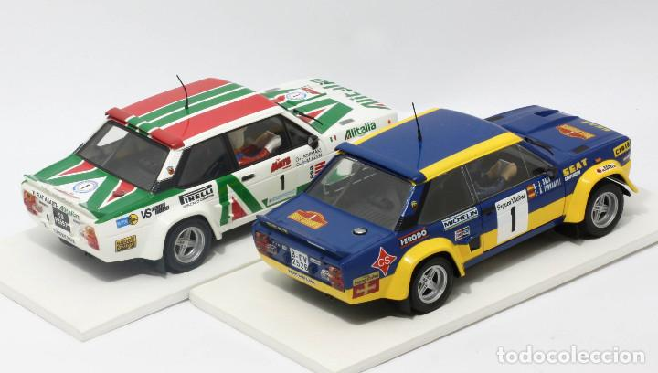 Scalextric: Lote 2 Fiat 131 Abarth equipos oficiales Alitalia y Seat (Scalextric) - Foto 3 - 164605906
