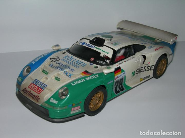 COCHE PORSCHE 911 GT1 EFECTO SUCIO DE SCALEXTRIC TECNITOYS - PACK LE MANS TECNI TOYS - (Juguetes - Slot Cars - Scalextric Tecnitoys)