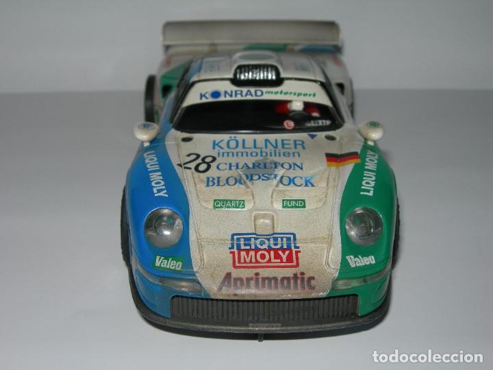 Scalextric: COCHE PORSCHE 911 GT1 EFECTO SUCIO DE SCALEXTRIC TECNITOYS - PACK LE MANS TECNI TOYS - - Foto 2 - 165253038