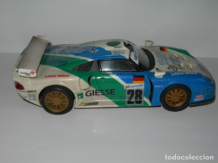 Scalextric: COCHE PORSCHE 911 GT1 EFECTO SUCIO DE SCALEXTRIC TECNITOYS - PACK LE MANS TECNI TOYS - - Foto 5 - 165253038