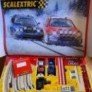 Scalextric: ANTIGUO SCALEXTRIC TECNITOYS 1000 LAGOS - CITROEN XSARA WRC Y SUBARU IMPREZA WRC - CIRCUITO Y COCHES. Lote 165881314
