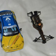 Scalextric: LOTE 2 COCHES TECNITOYS SCALEXTRIC - RENAULT MAXI MEGANE Y CHASIS F1 - ¡MIRA FOTOGRAFÍAS Y DETALLES!. Lote 166013466