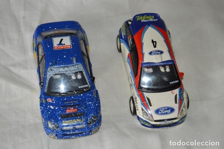 LOTE 2 COCHES TECNITOYS SCALEXTRIC - FORD FOCUS WRC Y SUBARU IMPREZA - ¡MIRA FOTOGRAFÍAS Y DETALLES! (Juguetes - Slot Cars - Scalextric Tecnitoys)