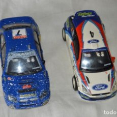 Scalextric: LOTE 2 COCHES TECNITOYS SCALEXTRIC - FORD FOCUS WRC Y SUBARU IMPREZA - ¡MIRA FOTOGRAFÍAS Y DETALLES!. Lote 166019858