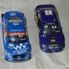 Scalextric: LOTE 2 COCHES TECNITOYS SCALEXTRIC - AUDI TT Y SUBARU IMPREZA WRC - ¡MIRA FOTOGRAFÍAS!. Lote 166025234