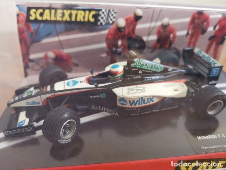 COCHE SCALEXTRIC MINARDI F1 MELBOURNE 2004 REF.6152 (Juguetes - Slot Cars - Scalextric Tecnitoys)