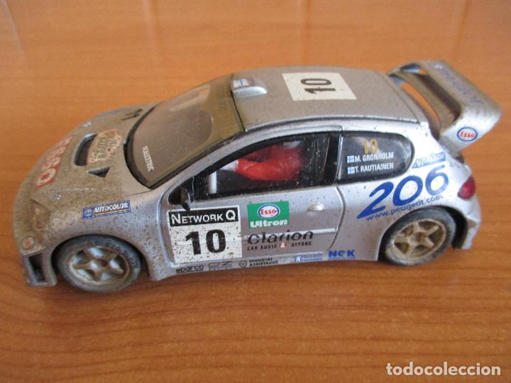 SCALEXTRIC: COCHE PEUGEOT 206 WRC ( GRONHOLM - RAUTIAINEN) (Juguetes - Slot Cars - Scalextric Tecnitoys)