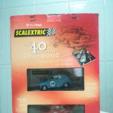 Scalextric: CAJA 40 ANIVERSARIO SCALEXTRIC - 2 COCHES + LIBRO - ABARTH - SEAT 600 -. Lote 167981617
