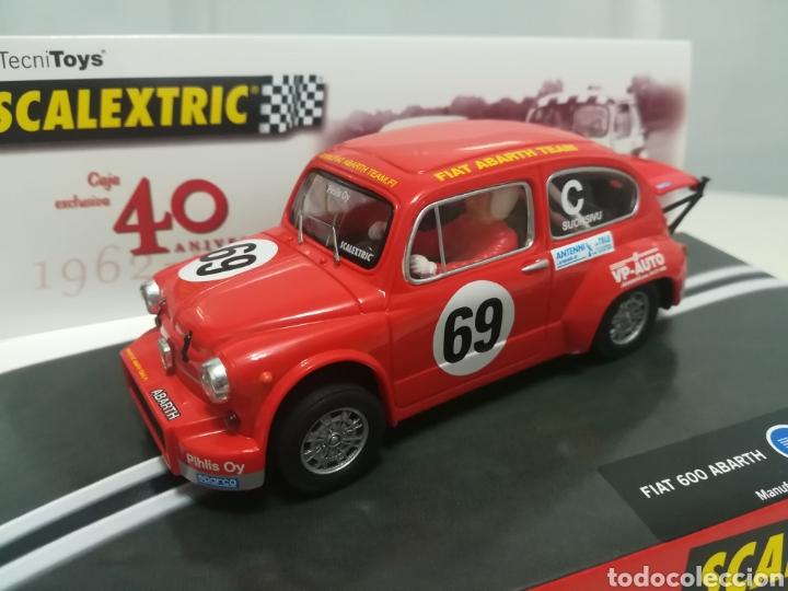 Scalextric: caja 40 aniversario scalextric - 2 coches + libro - abarth - seat 600 - - Foto 6 - 167981617