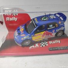 Scalextric: SCALEXTRIC SKODA FABIA WRC RED BULL SCX REF. 63450. Lote 169588230