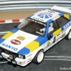 Scalextric: SCALEXTRIC TECNITOYS AUDI QUATTRO SANYO RALLY SUECIA 1982 SLOT CAR PLANETA. Lote 171415835