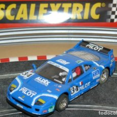 Scalextric: SCALEXTRIC TECNITOYS FERRARI F-40 PILOT 24 HORAS LE MANS SLOT CAR PLANETA / ALTAYA F40. Lote 172097563