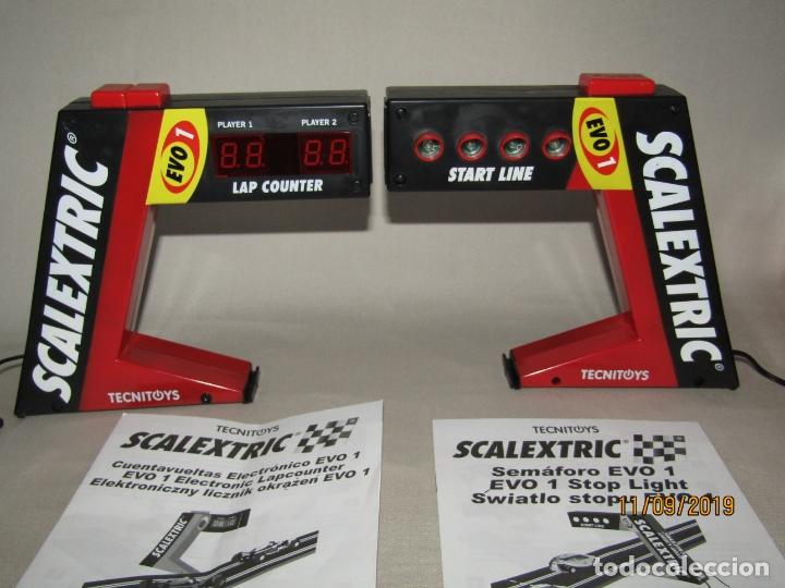 Scalextric: Semáforo EVO 1 y Cuentavueltas Electrónico EVO 1 de SCALEXTRIC - Foto 5 - 176214007