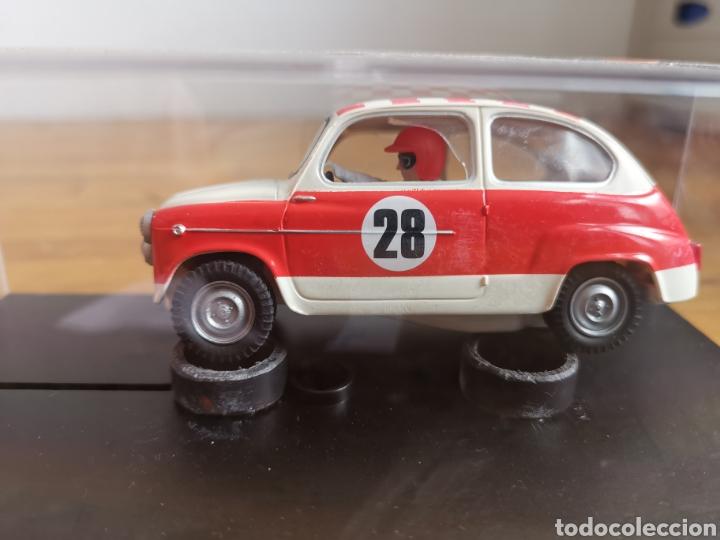 COCHE SCALEXTRIC REPRO SEAT 600 1972 RALLY COSTA BRAVA 2002 (Juguetes - Slot Cars - Scalextric Tecnitoys)