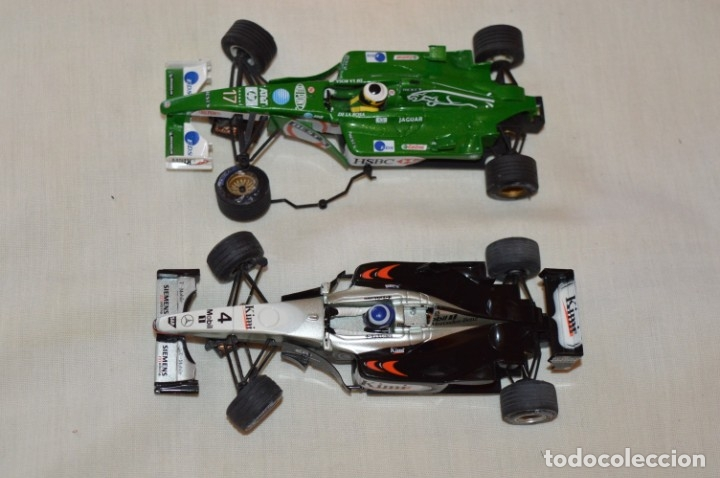 Scalextric: LOTE 2 COCHES F1 - SCALEXTRIC TECNITOYS - McLaren MP 4/16 - JAGUAR F-1 - ¡Mira fotos y detalles! - Foto 1 - 178268300