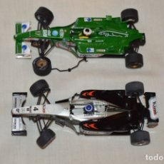 Scalextric: LOTE 2 COCHES F1 - SCALEXTRIC TECNITOYS - MCLAREN MP 4/16 - JAGUAR F-1 - ¡MIRA FOTOS Y DETALLES!. Lote 178268300