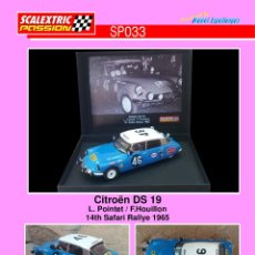 Scalextric: SCALEXTRICPASSION SP033 CITROEN DS19. Lote 178273825