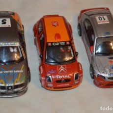 Scalextric: LOTE 3 COCHES SCALEXTRIC TECNITOYS - CITROEN C2 / SEAT LEÓN / HUNDAI ACCENT - ¡MIRA FOTOS/DETALLES!. Lote 178275093